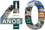 logo UNED Melilla 40 ans